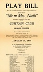Program for the Stage Production Mr. and Mrs. North
