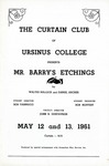Program for the Stage Production Mr. Barry's Etchings