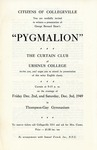 Program for the Stage Production Pygmalion