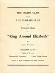 Program for the Stage Production Ring Around Elizabeth