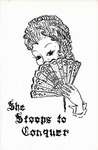 Program for the Stage Production She Stoops to Conquer by Curtain Club