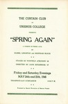 Program for the Stage Production Spring Again