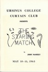 Program for the Stage Production The Staring Match by Curtain Club