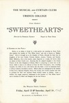 Program for the Stage Production Sweethearts