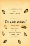 Program for the Stage Production Ten Little Indians