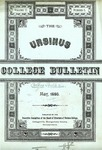 Ursinus College Bulletin Vol. 2, No. 5 by Executive Committee of the Board of Directors