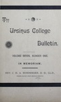 Ursinus College Bulletin Vol. 7, No. 1 by Augustus W. Bomberger, Harvey E. Kilmer, and Irvin F. Wagner