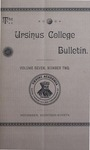 Ursinus College Bulletin Vol. 7, No. 2 by Augustus W. Bomberger, Harvey E. Kilmer, and Irvin F. Wagner