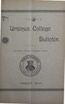 Ursinus College Bulletin Vol. 7, No. 4 by Augustus W. Bomberger, Harvey E. Kilmer, and Irvin F. Wagner
