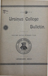 Ursinus College Bulletin Vol. 7, No. 5 by Augustus W. Bomberger, Harvey E. Kilmer, and Irvin F. Wagner