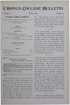 Ursinus College Bulletin Vol. 10, No. 9, June 1894