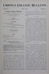 Ursinus College Bulletin Vol. 10, No. 10, July 1894