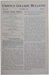 Ursinus College Bulletin Vol. 11, No. 1, October 1894