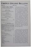 Ursinus College Bulletin Vol. 11, No. 7, April 1895