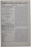 Ursinus College Bulletin Vol. 12, No. 1, October 1895