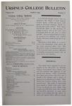 Ursinus College Bulletin Vol. 12, No. 6, March 1896
