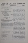 Ursinus College Bulletin Vol. 14, No. 2, October 15, 1897