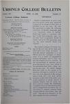 Ursinus College Bulletin Vol. 14, No. 14, April 15, 1898