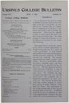 Ursinus College Bulletin Vol. 14, No. 17, June 1, 1898