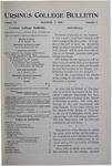 Ursinus College Bulletin Vol. 15, No. 1, October 1, 1898