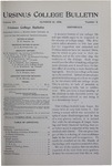 Ursinus College Bulletin Vol. 15, No. 2, October 15, 1898