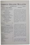 Ursinus College Bulletin Vol. 15, No. 4, November 15, 1898