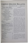 Ursinus College Bulletin Vol. 15, Nos. 6 and 7, January 1, 1899