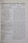 Ursinus College Bulletin Vol. 15, No. 8, January 15, 1899