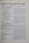 Ursinus College Bulletin Vol. 15, No. 11, March 1, 1899