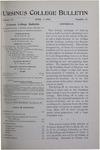 Ursinus College Bulletin Vol. 15, No. 13, April 1, 1899