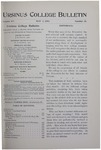 Ursinus College Bulletin Vol. 15, No. 15, May 1, 1899
