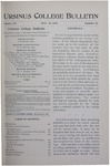 Ursinus College Bulletin Vol. 15, No. 16, May 15, 1899