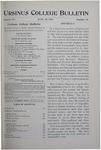 Ursinus College Bulletin Vol. 15, No. 18, June 15, 1899
