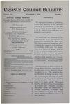 Ursinus College Bulletin Vol. 16, No. 3, November 1, 1899