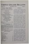 Ursinus College Bulletin Vol. 16, No. 4, November 15, 1899