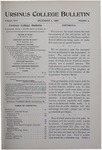 Ursinus College Bulletin Vol. 16, No. 5, December 1, 1899