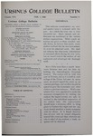 Ursinus College Bulletin Vol. 16, No. 9, February 1, 1900
