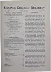 Ursinus College Bulletin Vol. 16, No. 14, April 15, 1900 by John Edward Stone