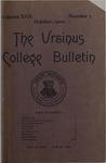 Ursinus College Bulletin Vol. 17, No. 1, October 15, 1900