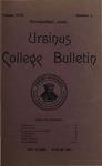 Ursinus College Bulletin Vol. 17, No. 2, November 15, 1900