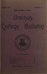 Ursinus College Bulletin Vol. 17, No. 3, December 15, 1900