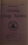 Ursinus College Bulletin Vol. 17, No. 4, January 15, 1901