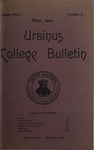 Ursinus College Bulletin Vol. 17, No. 8, May 15, 1901