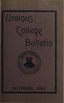 Ursinus College Bulletin Vol. 18, No. 1, October 15, 1901 by Mary E. Markley