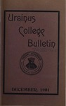 Ursinus College Bulletin Vol. 18, No. 3, December 15, 1901