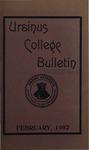 Ursinus College Bulletin Vol. 18, No. 5, February 15, 1902