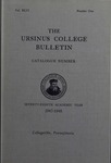Ursinus College Catalogue for the Seventy-eighth Academic Year, 1947-1948 by Office of the Registrar