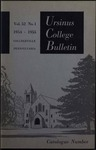 Ursinus College Catalogue for the Eighty-fifth Academic Year, 1954-1955 by Office of the Registrar