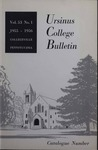 Ursinus College Catalogue for the Eighty-sixth Academic Year, 1955-1956 by Office of the Registrar
