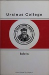 Ursinus College Catalogue for the One Hundred and Fifth Academic Year, 1974-1975